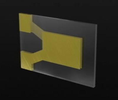 電極を形成した水晶片
